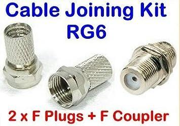 Xxion Pro – Conectores de cable coaxial de baja pérdida – 2 x conectores hembra y
