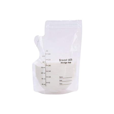 10 piezas bolsas de almacenamiento de la leche materna la ...