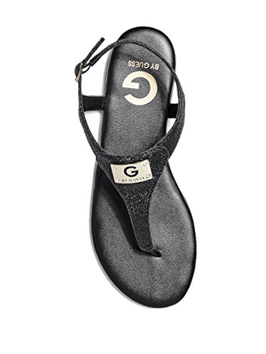 Women's GUESS by Black Strap Sandals Plaque T G Carmela Logo vnS5xww6O