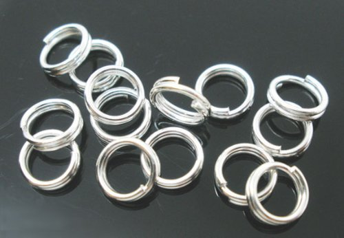 PEPPERLONELY Brand 1000PC Silver Plated Split Rings 4mm