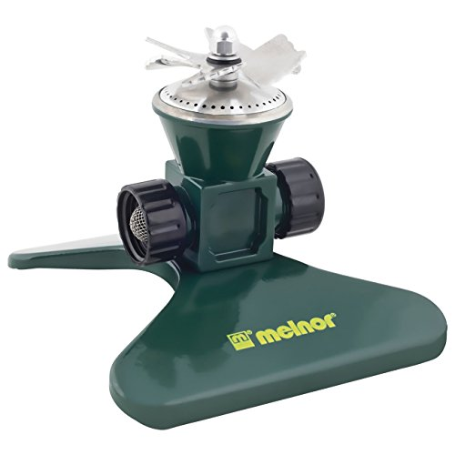 Melnor Revolving Sprinkler; Heavy-Duty Metal Construction; Waters up to 35' Diameter (7800)