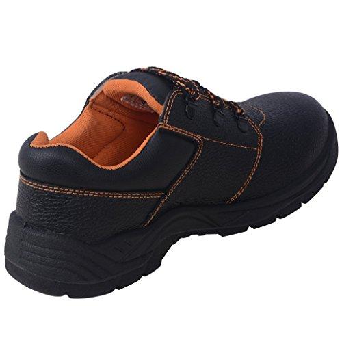 vidaXL Chaussures Vêtement de protection sécurité travail bricolage Noir Taille 43 Cuir
