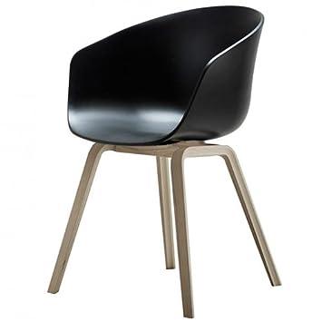 About A Chair 22 Armchair.Hay About A Chair 22 Armchair Black Frame Oak Wood Soaped Amazon Co