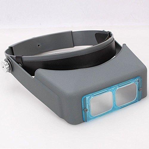 Headband Magnifier Jewelry Visor 4 Multi Lens Glasses Head Visor Loupe Binocular