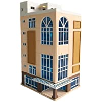 New N Scale 1/144 Dark Beige Trade Building Scenary Layout Outland Model For Sandbox By KTOY