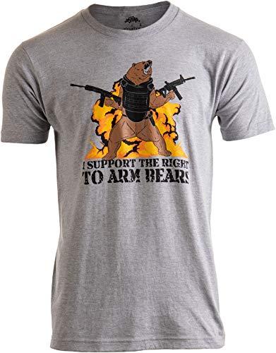 I Support The Right to Arm Bears | Dad Joke Funny Pun Gun Joke Men Women T-Shirt-(Adult,3XL)