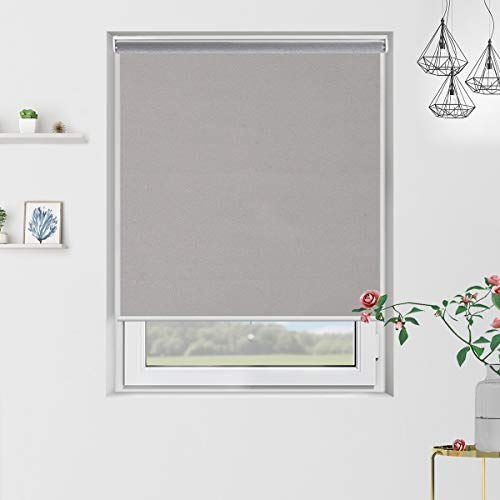 - Cordless Blackout Roller Blinds and Shades with Spring System, Thermal and Room Darkening for Window Indoor Use, 31 x 72in, Grey