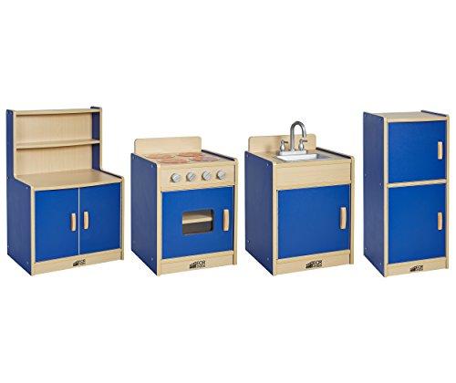 ECR 4-Piece Colorful Essentials Activity Kitchen Playset,...