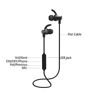 Bluetooth Headphones, VIDVIE Wireless Magnetic Sport Earphones(Bluetooth 4.1, High Fidelity Sound, APTX, 8 Hours Playtime, Secure Fit for Running)