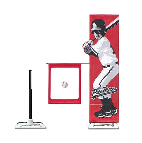 The Pitchitter Combination Pitching Aid and Batting Tee for Youth Baseball by The Pitchitter