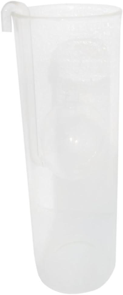 Lampe /à Huile en Verre Transparent D/écor Cr/éatif Salle de Lecture 15cm