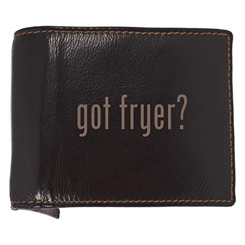 got fryer? - Soft Cowhide Genuine Engraved Bifold Leather Wallet