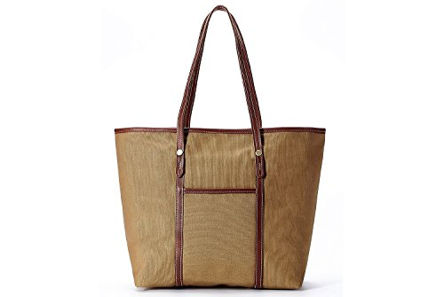 Tote La Resistant Khaiki Handbag Fashion Poet Women's Khaiki Water Canvas XYfURfrv