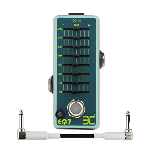 ENO EX Pedal EQ7 Equalizer Guitar Effect Pedal 7-Band EQ Mini Single Effect True Bypass Guitar Parts & 6.35mm Effect Pedal Cable by EX