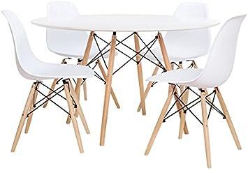 Noorsk Design Conjunto de Mesa 100 + 4 sillas Tower: Amazon.es ...