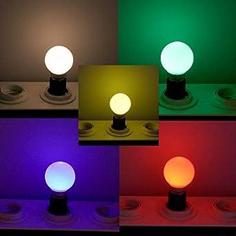 5 Couleurs x3 Lot de 15 Ampoules B22 1W panach/é 5 Couleurs Guirlande F/ête Guinguette Jaune Blanc Chaud Rouge Vert Bleu