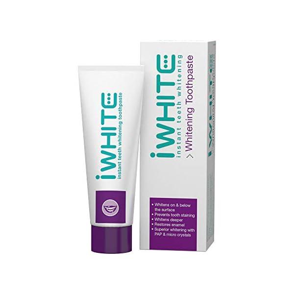 Pasta dental blanqueadora iWhite Instant - Blanqueamiento dental activo - Restauración del esmalte - Remineralización… 1