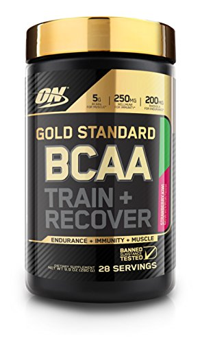 Optimum Nutrition Gold Standard BCAA, Strawberry Kiwi, 28 Servings, Branched Chain Amino Acids, 5g BCAA blend, 21.12 Ounce