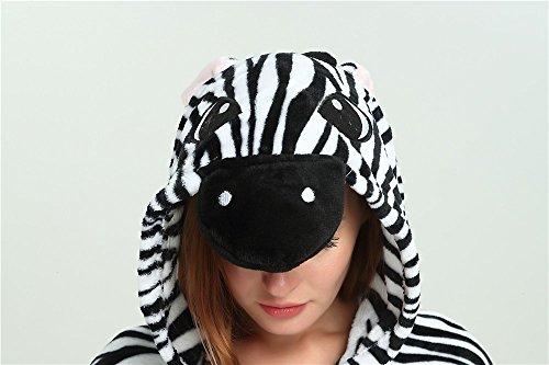Zebra da Attrezzatura Pigiami e Adulti notte Animale Costume Costumi travestimenti Pigiama Unicorno Monopezzi Halloween camicie VineCrown Cosplay Anime HUwgT