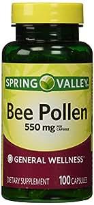 Amazon.com: Spring Valley - Bee Pollen 550 mg, 100