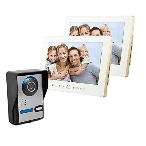 Videoportero Intercomunicador Timbre Con Monitor A Color De 10 Pulgadas Y Cámara HD Con Timbre De Video Y Cable Timbre...