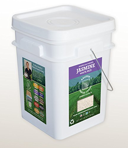 Artisanal Jasmine White Rice, 25 lb pail, Sustainably Grown in the U.S.A, Farm to Table Experience by Ralston Family Farms