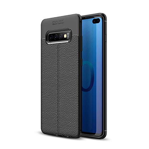 Zoint Auto Focus Ultimate Experience Case for Samsung Galaxy S10/S10 Plus/S10 Lite Shockproof Litchi Leather Pattern Soft TPU Case Cover (S10 Plus)