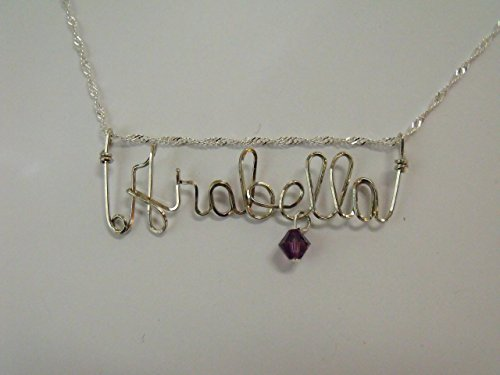 Name necklace, Personalized name, ARABELLA or ANY name on 18