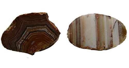 Bahia Agate 1-2 Inch Rock Mineral Specimens 2 Stones, Samples w Info (Bahia Stone)