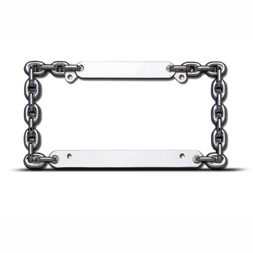 Metal Chain Metal Heavy Duty License Plate Frame Tag Holder