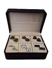 Geek & Glitter Star Wars Cufflink Gift Set - 6 Pairs Box | Darth Vader, Millennium Falcon, Boba Fett, The Last Jedi Gifts, A New Hope, Gifts for Men