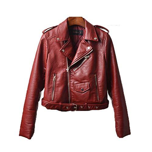 Pu Invierno Corta Algo Cuero Acolchado Mujer Para Con Abrigo Otoño Chaqueta Cintura Red Marea Nueva Motocicleta E De Damas Ropa Alta B40nWqa
