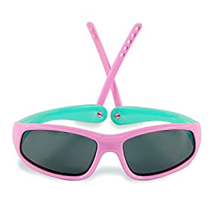 Boys Girls Kids Polarized UV Protection Sunglasses NSS0706 (pink)
