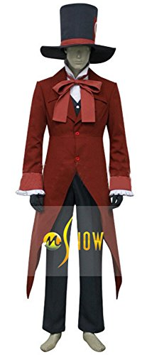 Mtxc Men's Ouran High School Host Club Cosplay Tamaki Suoh Tuxedo Size X-large Red