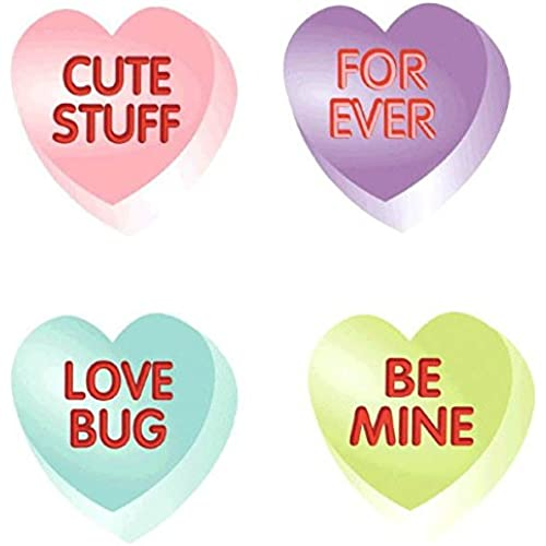 Amscan Blushing Valentine's Day Conversation Heart Cutouts Party Decoration (10 Pack), 3, Multicolor Sales