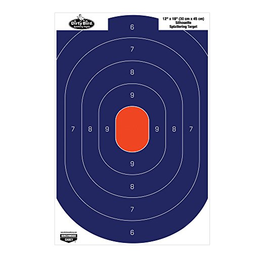 Birchwood Casey Dirty Bird Silhouette Target (Per 50), Blue/Orange, 12 x 18-Inch