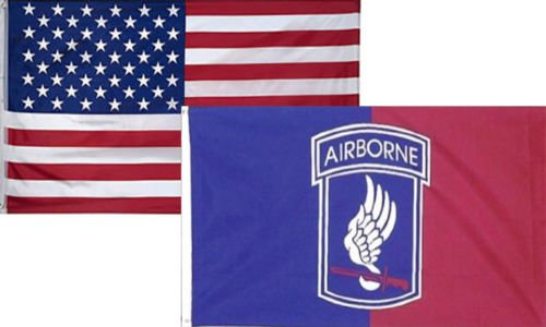 3x5 Wholesale Combo USA American & 173rd Airborne Division Flag 3'x5' (2 Pack) set (Airborne 173rd Division)