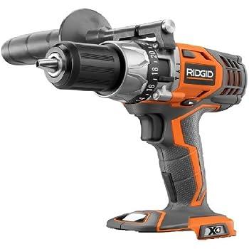 ridgid drill. ridgid 18v li-ion 1/2in vsr hammer drill/driver x4 r8611501 cordless drill e
