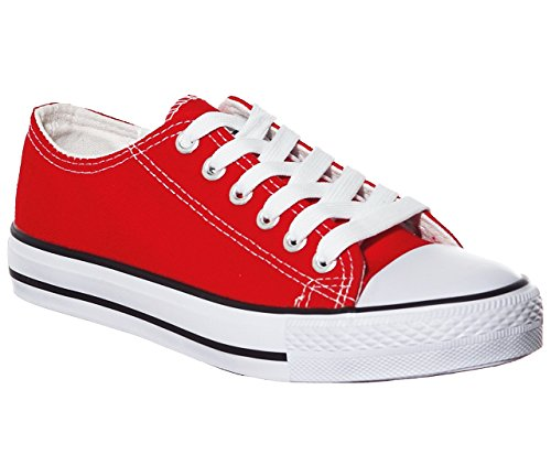 NEW STYLE!! Women's Classic Canvas Skate Sneaker Best Seller Red