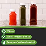 16-OZ Square Plastic Juice Bottles - Cold Pressed