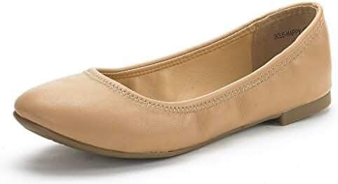 DREAM PAIR SOLE-HAPPY New Women's Flexible Stretch Topline Comfort Ballerina Flats Shoes