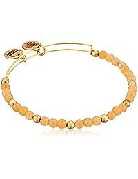 Alex and Ani Color Classics, Marigold/Rafaelian Gold Bangle Bracelet