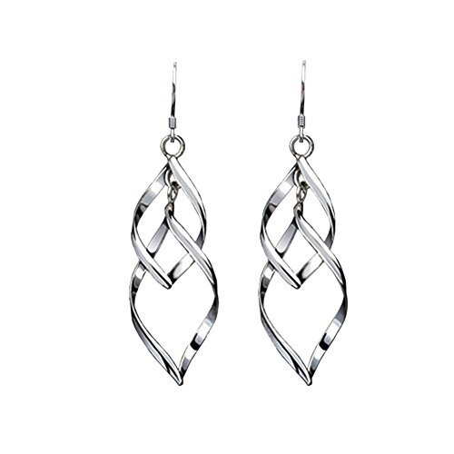 Sterling Shape Silver Leaf - Acxico Multilayer Leaves Shape Pendant Stud Earrings