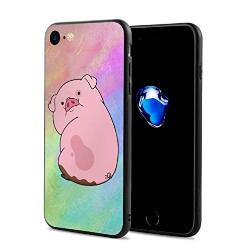 Gravity Falls - Waddles Anti-Scratch Shock Rubber Silicone Rugged Thin Cover Phone Case for iPhone 7/iPhone 8