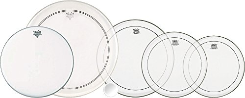 [Remo 5-Piece Clear Pinstripe Drumhead Pack Fusion] (Coated Powerstroke 3 Snare)