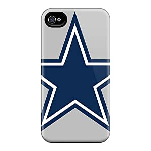 Shock Absorbent Cell-phone Hard Cover For Iphone 4/4s (SAc16030nOFC) Provide Private Custom High-definition Dallas Cowboys Skin