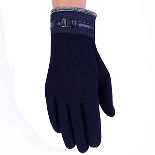 ABC 2016 Men Thermal Winter Touch Screen Motorcycle Ski Snow Snowboard Gloves (Navy) (Lady In The Navy Gloves)