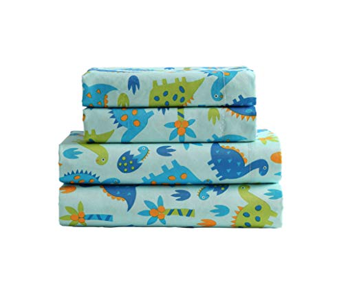 Kute Kids Super Soft Sheet Set - Baby Dinosaurs - Brushed Microfiber for Extra Comfort (Twin)