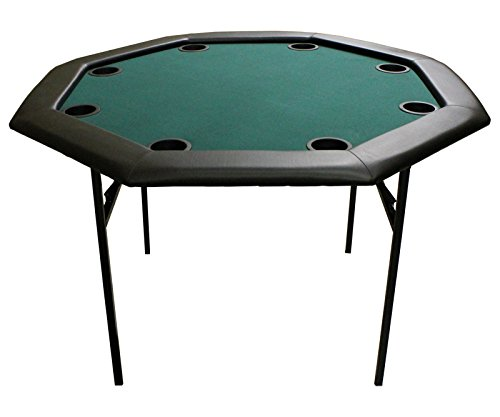 Versa Games 48'' Octagon Poker Table w/ Folding Legs - Green by Versa Games
