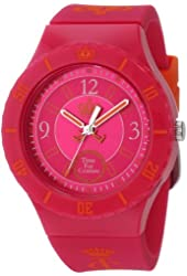 """Juicy Couture Women's 1900823 """"Taylor"""" Hot Pink Jelly Strap Watch"""